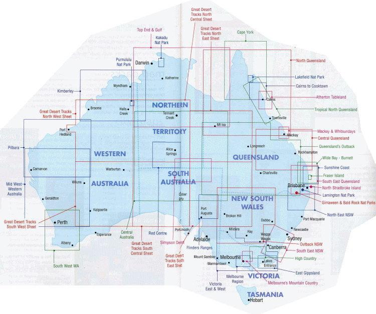 Australia Regional Map Index